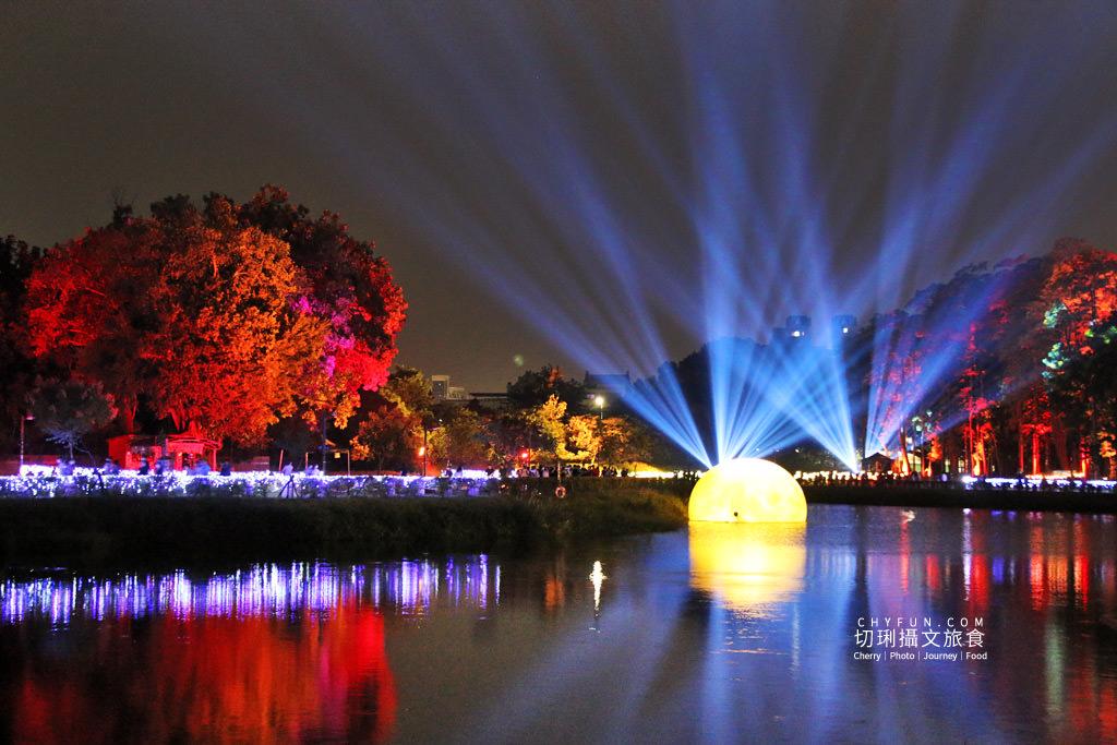嘉義旅遊光織影舞北香湖公園13 嘉義|光織影舞藝術展在北香湖公園,夜遊全台最大月亮和星羅點點超夢幻