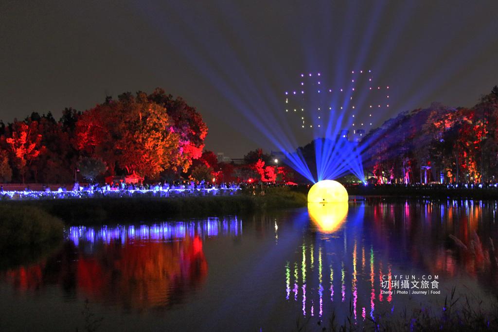 嘉義旅遊光織影舞北香湖公園14 嘉義|光織影舞藝術展在北香湖公園,夜遊全台最大月亮和星羅點點超夢幻