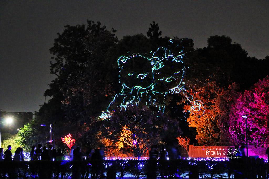 嘉義旅遊光織影舞北香湖公園21 嘉義|光織影舞藝術展在北香湖公園,夜遊全台最大月亮和星羅點點超夢幻