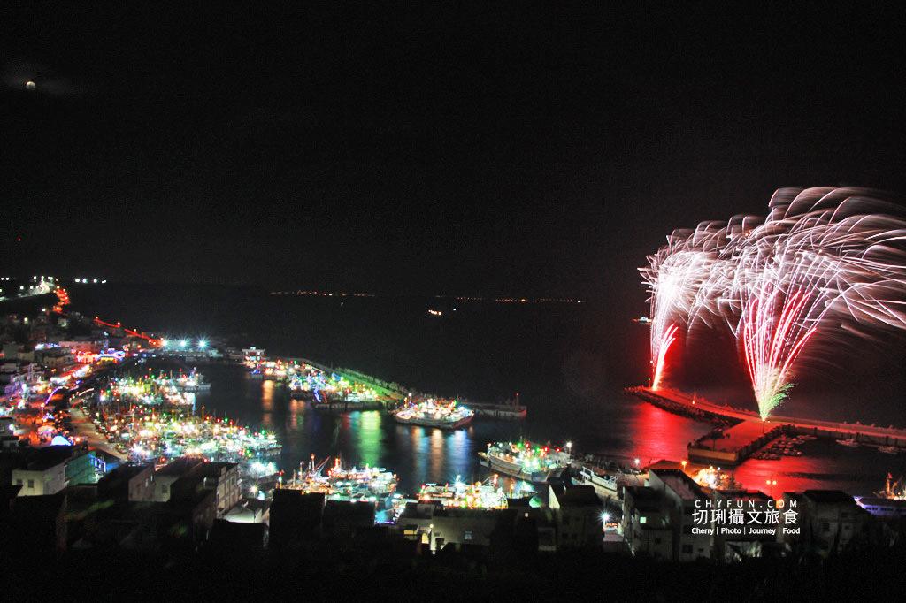 澎湖元宵-外垵元宵溫王宮05 澎湖|西嶼外垵讚元宵,創意水火舞燈光秀花火碼頭施放
