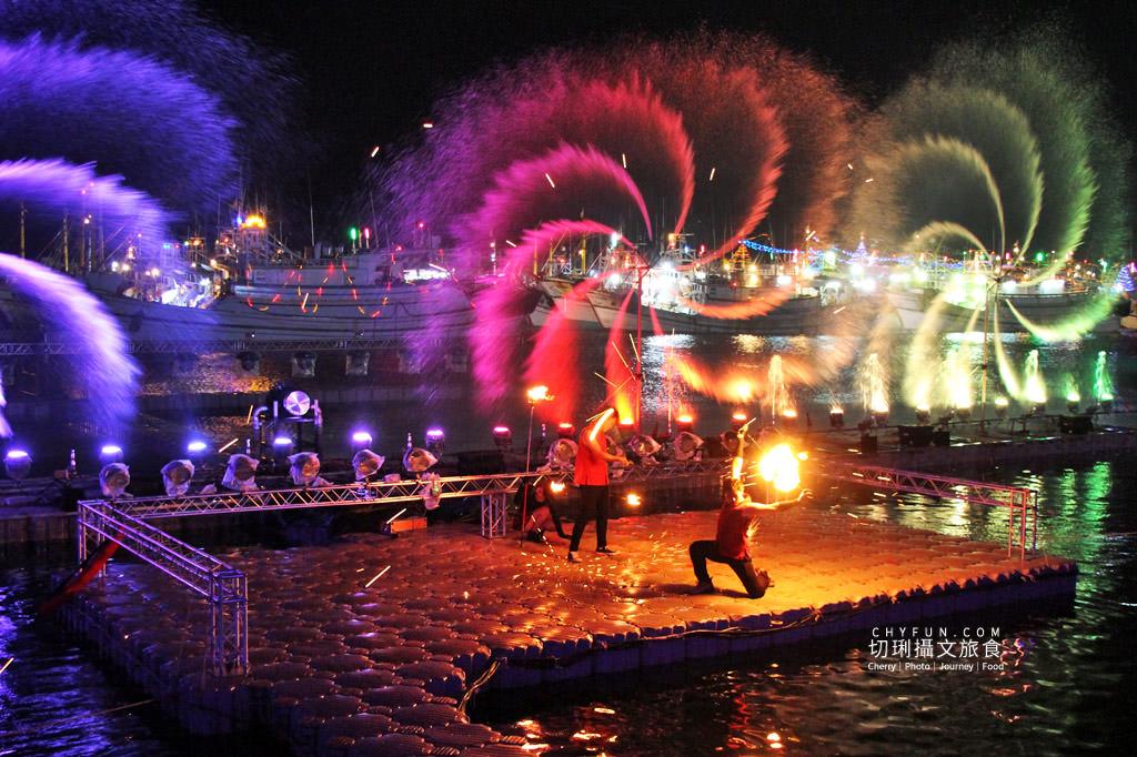 澎湖元宵-外垵元宵溫王宮14 澎湖|西嶼外垵讚元宵,創意水火舞燈光秀花火碼頭施放
