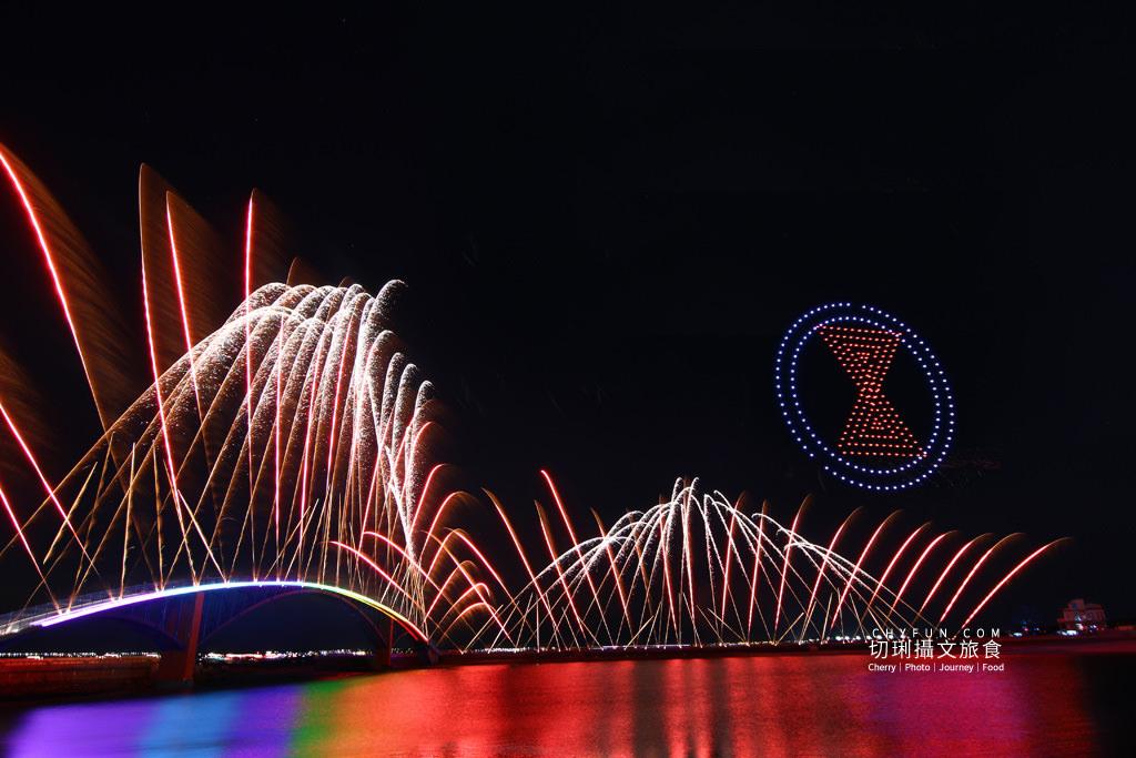 澎湖旅遊、2020澎湖花火節開幕式、漫威無人機表演02 澎湖|澎湖花火節漫威2020開幕,壯觀漫威宇宙300台無人機搭壯觀絢麗煙花