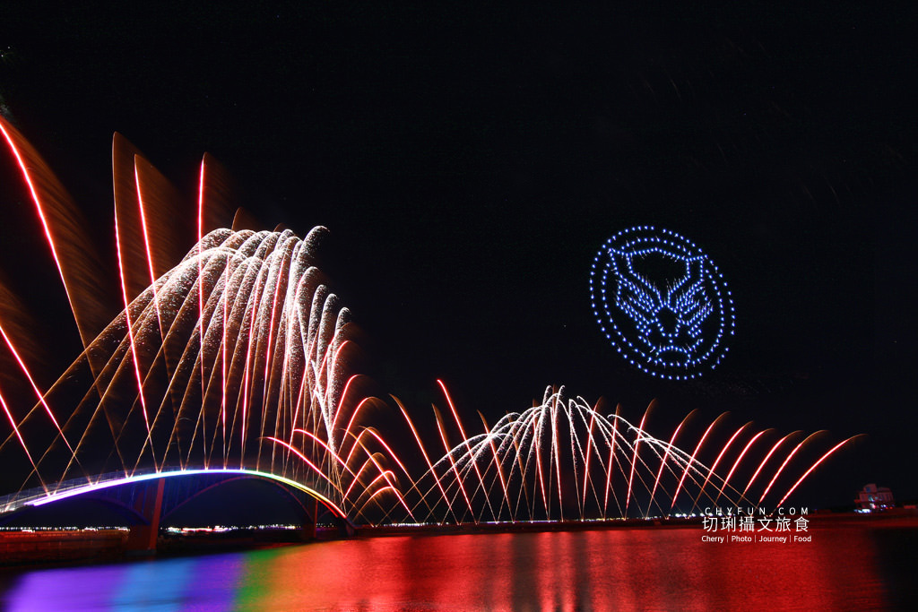 澎湖旅遊、2020澎湖花火節開幕式、漫威無人機表演04 澎湖|澎湖花火節漫威2020開幕,壯觀漫威宇宙300台無人機搭壯觀絢麗煙花