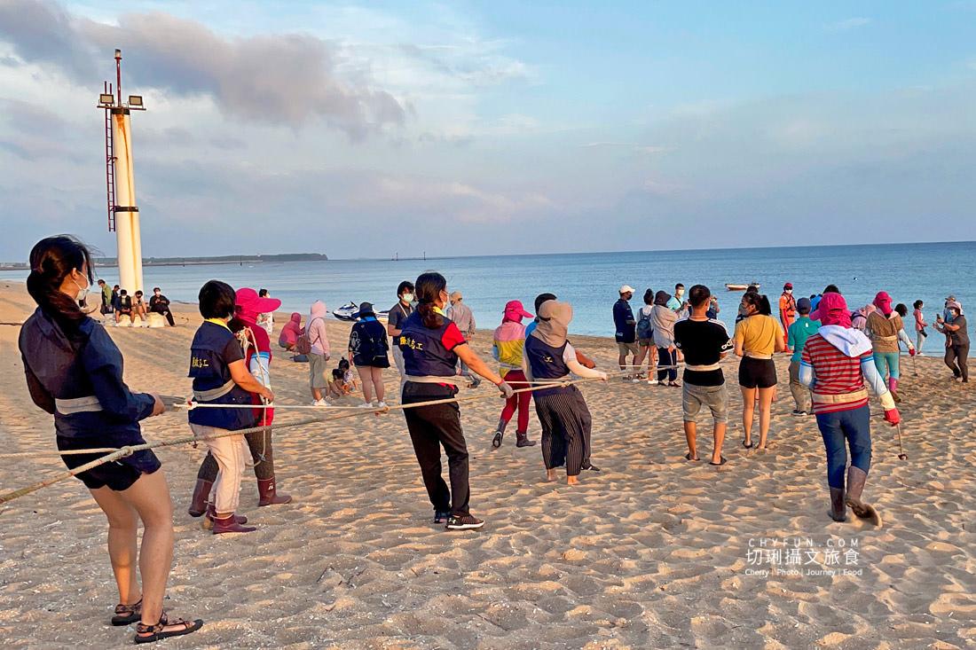 澎湖林投牽罟10 澎湖|牽罟趣體驗在林投沙灘,同心協力靠腰捕魚快來當半日漁夫