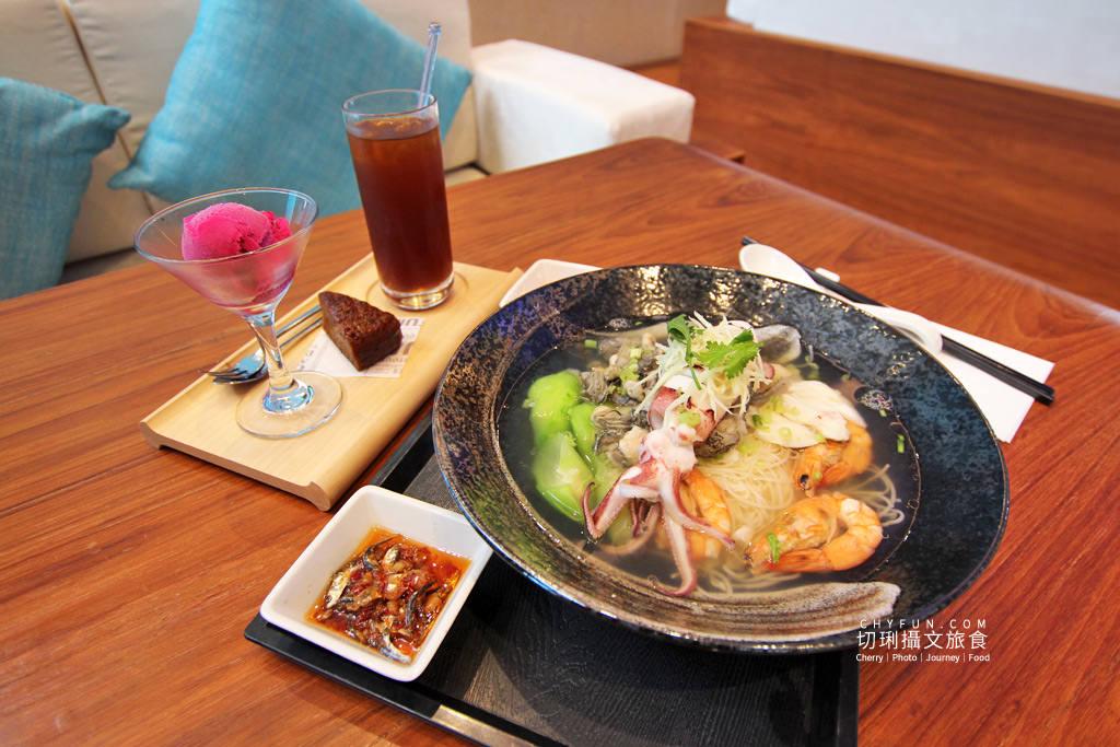 澎湖美食、澎湖喜來登、藍洞餐廳、龍膽石斑海鮮麵線