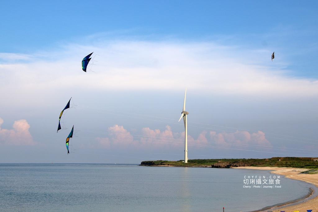 澎湖風箏節01 澎湖|澎湖風箏節為期一週在龍門後灣沙灘放風,各式大小造型風箏藍天箏藝