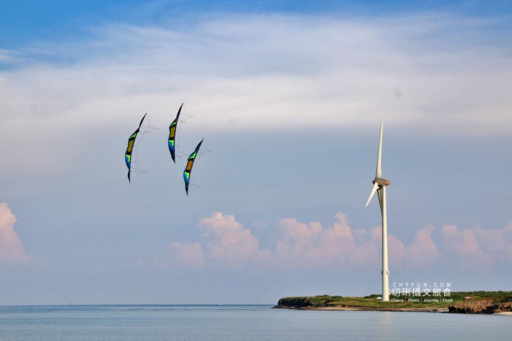 澎湖風箏節04 澎湖|澎湖風箏節為期一週在龍門後灣沙灘放風,各式大小造型風箏藍天箏藝