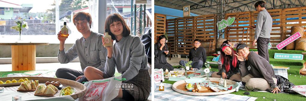 玩不一樣的農村部落二日遊39-炭呷人茶席-酒瓶中的奶蓋綠、野餐體驗 南投|玩不一樣的農村部落二日遊,發掘與體驗多樣化的在地故事