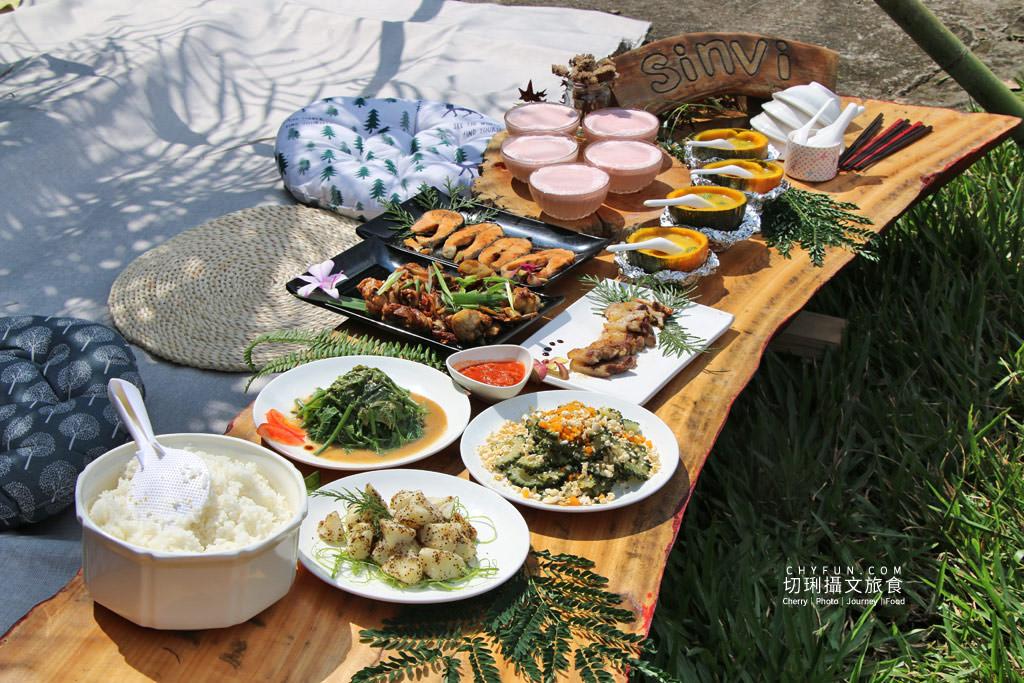 阿里山新美部落野餐那麼古謠06 嘉義|阿里山新美部落品味網美獵人營野餐,圍著營火聽那麼古謠