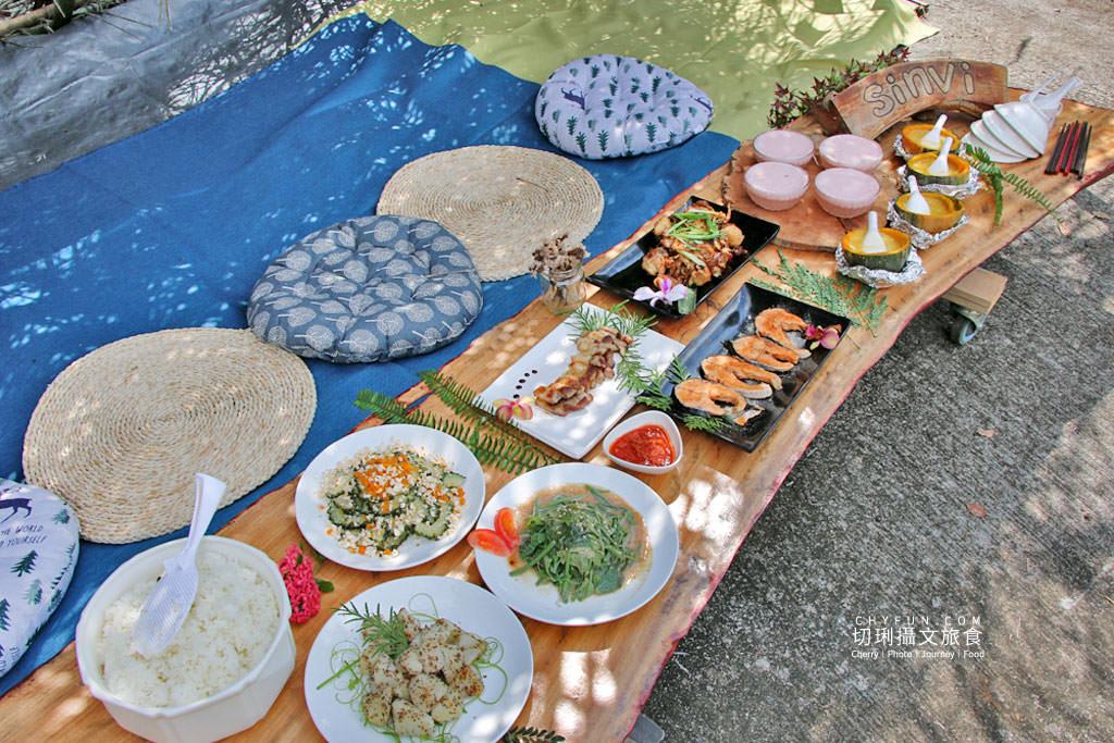 阿里山新美部落野餐那麼古謠13 嘉義|阿里山新美部落品味網美獵人營野餐,圍著營火聽那麼古謠