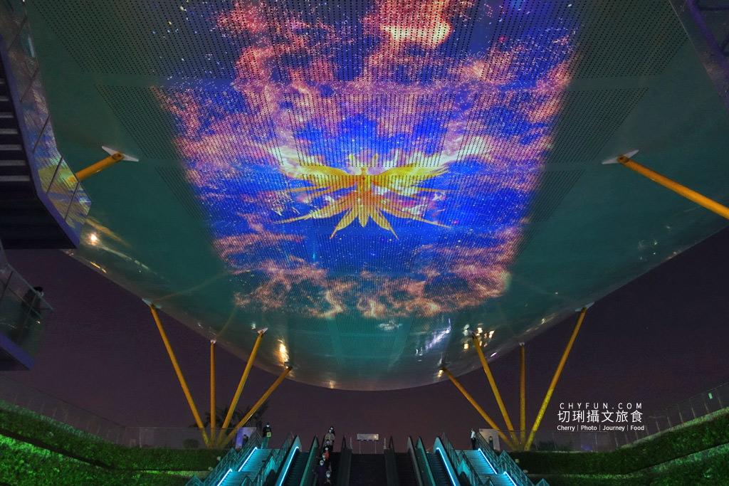 高雄光合作用HIGH-LIGHT高雄鳳翼天翔05 高雄|中央公園X美麗島站光影秀璀璨,鳳翼天翔3D立體投影大型藝術天地兩篇定點播