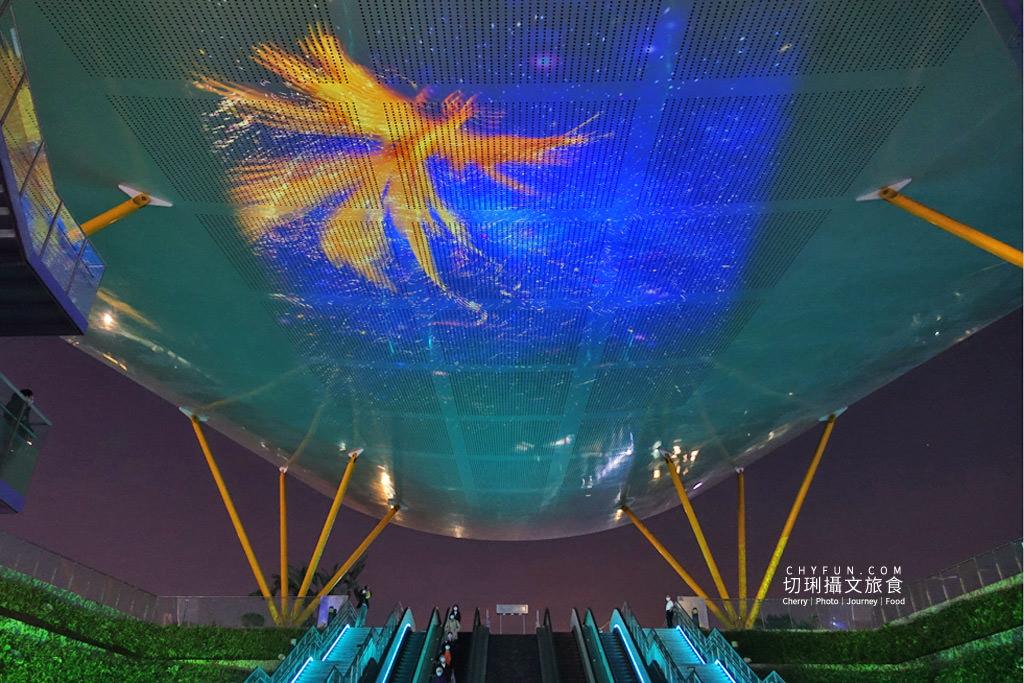 高雄光合作用HIGH-LIGHT高雄鳳翼天翔06 高雄|中央公園X美麗島站光影秀璀璨,鳳翼天翔3D立體投影大型藝術天地兩篇定點播