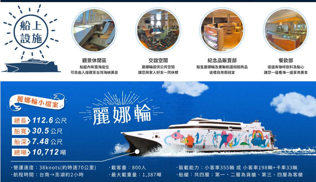麗娜輪雄獅介紹 澎湖|麗娜輪開啟台南馬公航線,台南安平出發11月底試營運2021正式啟航(票價已公告)