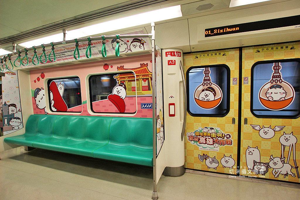 高雄旅遊、高雄捷運、貓咪軍團彩繪列車