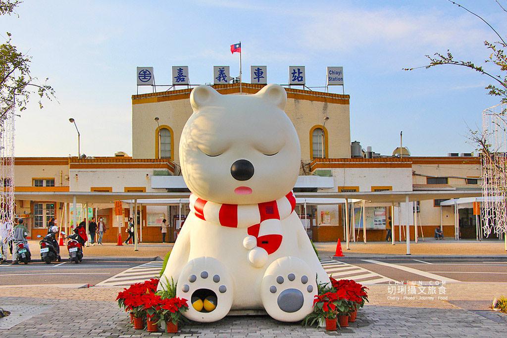 20191218031538_51 嘉義|嘉義車站三米高沉睡白熊回嘉迎賓,聖誕點燈報佳音歡迎光林