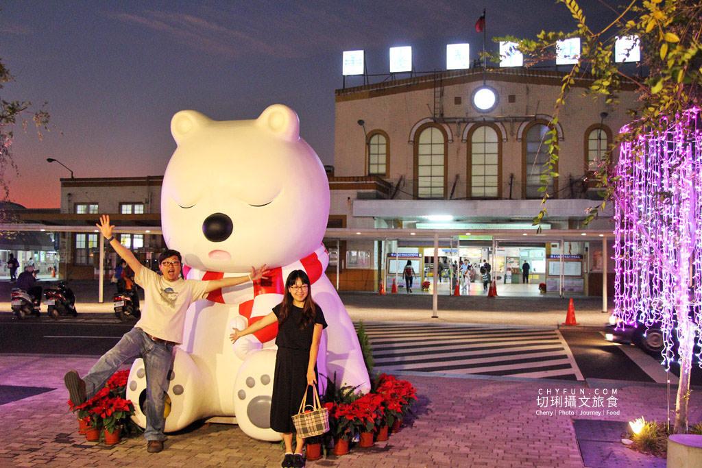 20191218031548_86 嘉義|嘉義車站三米高沉睡白熊回嘉迎賓,聖誕點燈報佳音歡迎光林