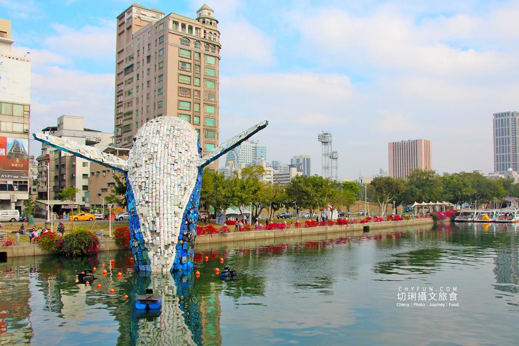 20200331012037_69 高雄|愛河愛之鯨躍出水面隨你拍,15噸回收垃圾驚奇創意新意義