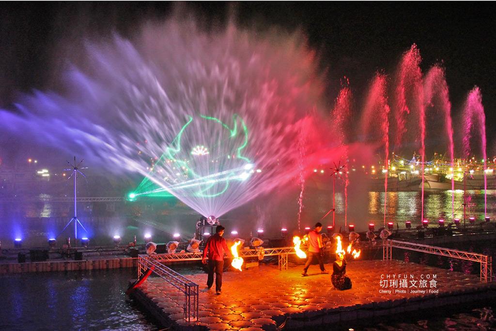 IMG_0634 澎湖|西嶼外垵讚元宵,創意水火舞燈光秀花火碼頭施放